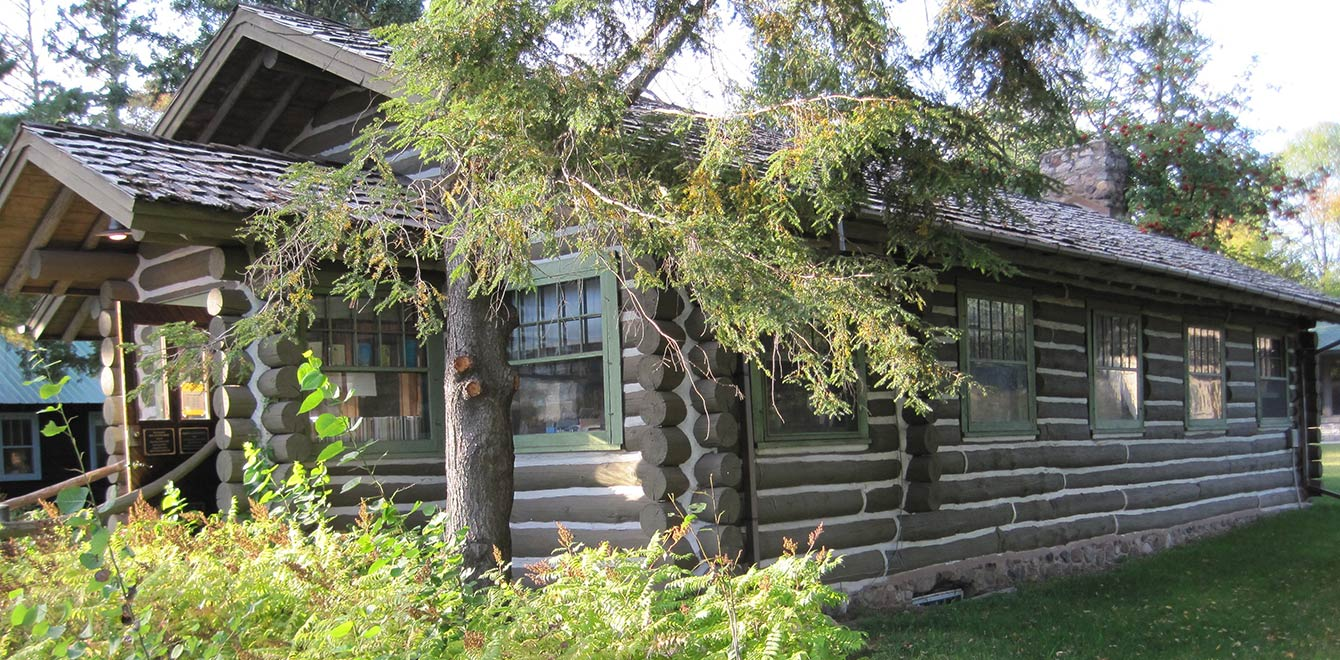 It's spring at The Forest Lodge Library in Cable, Wisconsin.